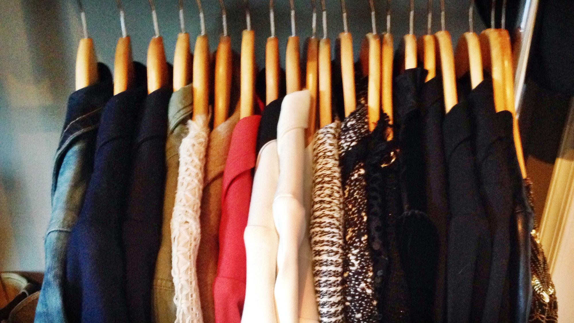 Coats in closet