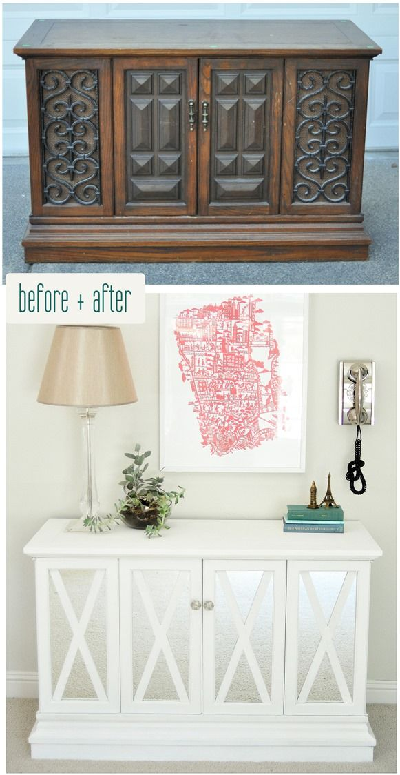 Before and after, credenza