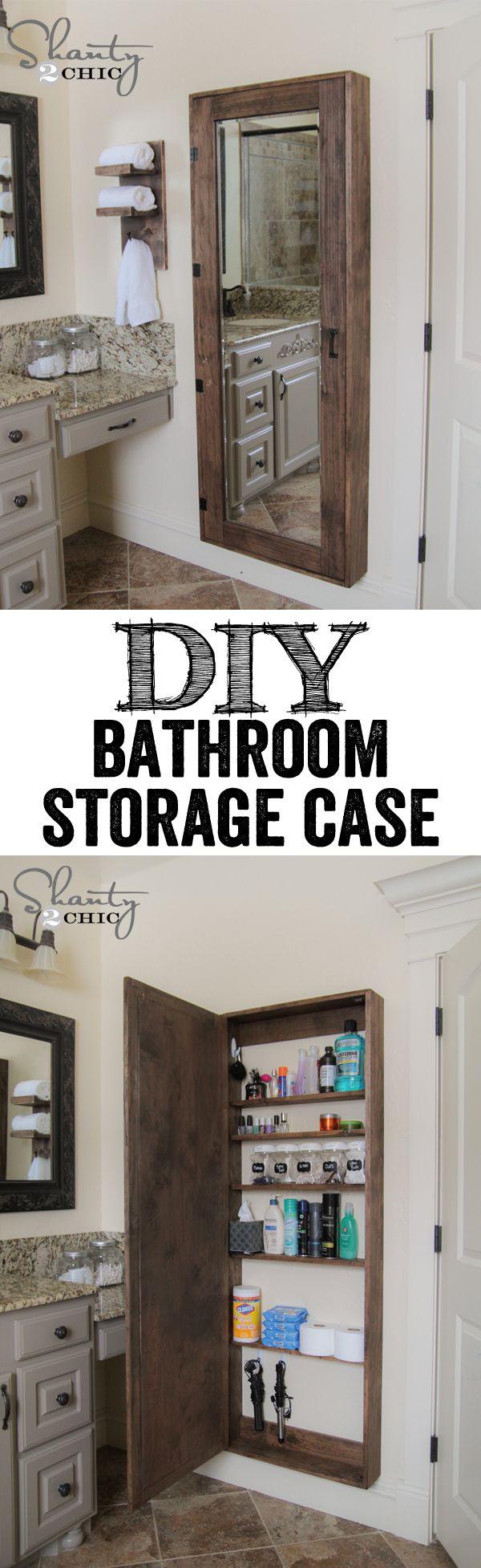 DIY bathroom storage case