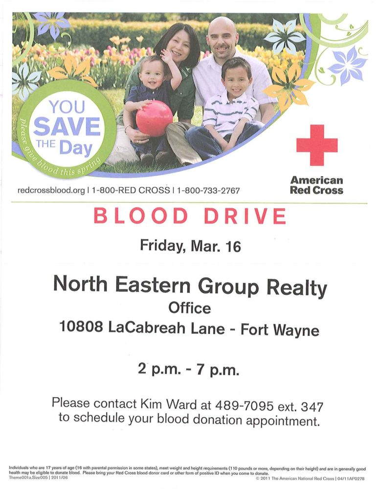Featured image for North Eastern Group Realty hosts our 2nd annual blood drive on February 17th.