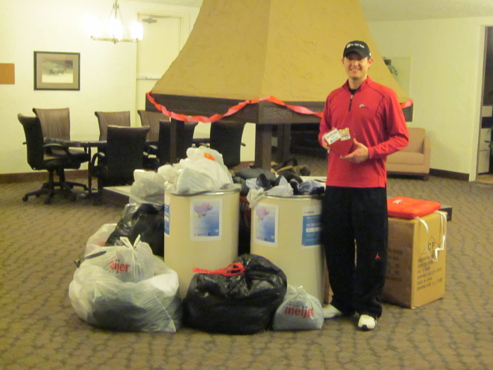 Featured image for The Noll Team collects sweats for the Fort Wayne Rescue Mission