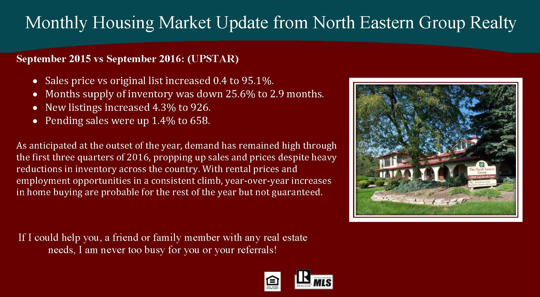 Monthly Market September 2016