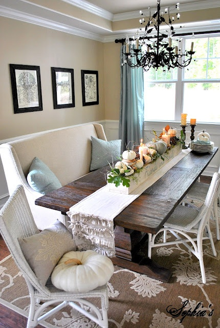 Featured image for Easy Dining Room Update: Add a Bench!