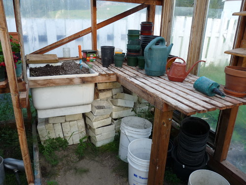 Featured image for Fall Potting Bench Makeover