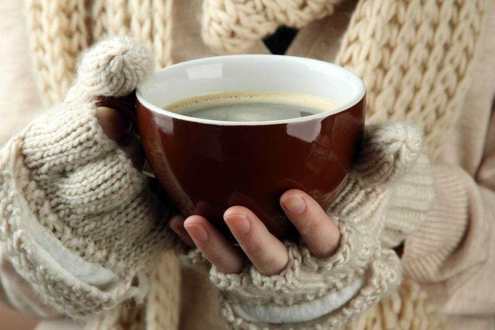 Mug with hot drink