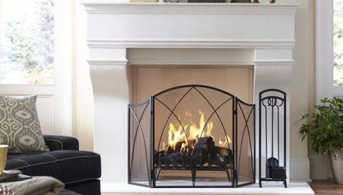 Fireplace scene.