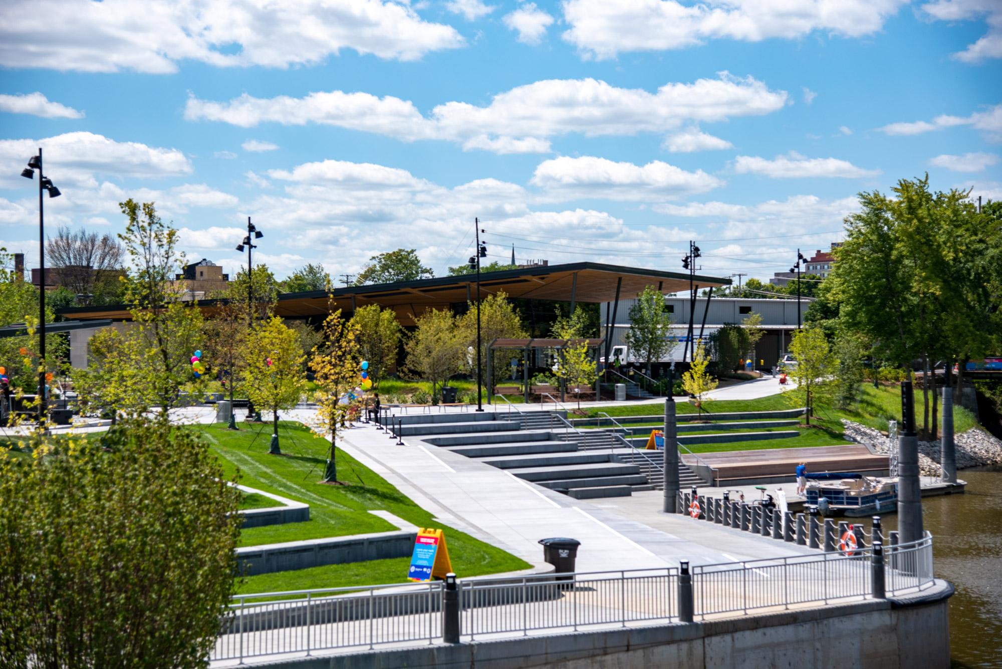 View of Promenade Park in Fort Wayne.